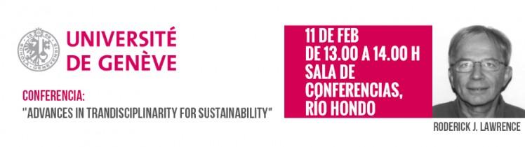 """Conferencia: """"Advances in trandisciplinarity for sustainability"""""""