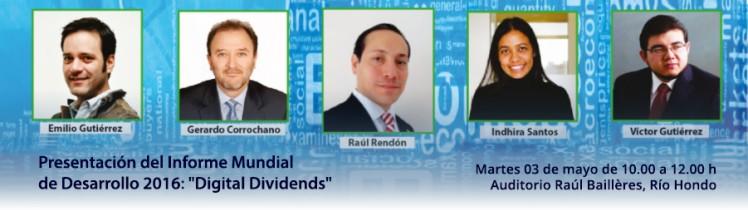 """Presentación del Informe Mundial de Desarrollo 2016: """"Digital Dividends"""""""