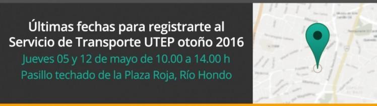 Últimas fechas para registrarte al Servicio de Transporte UTEP otoño 2016