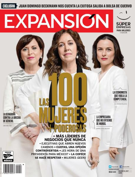 "Alumnae are ranked among ""The 100 Most Powerful Women"" in Expansión Magazine"