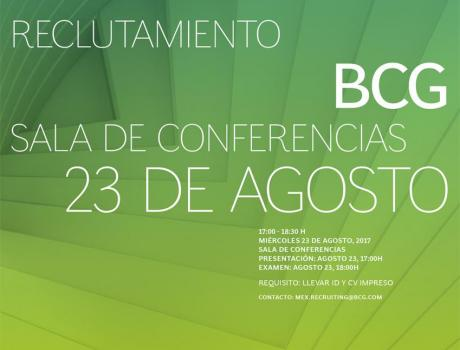 Bolsa de Trabajo invita a la presentación y examen de The Boston Consulting Group