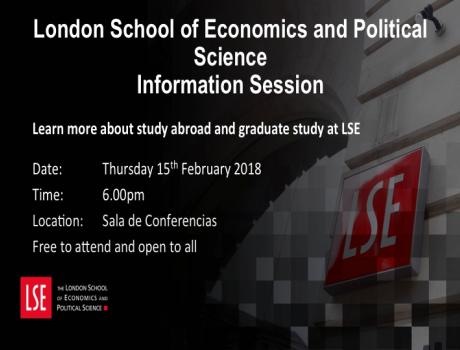 "Sesión de información ""London School of Economics and Political Science"""