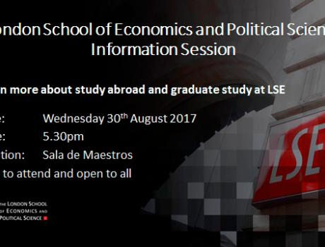 Sesión informativa de posgrados en London School of Economics