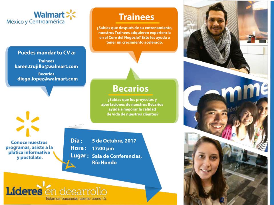 Bolsa de Trabajo invita a la presentación de Walmart